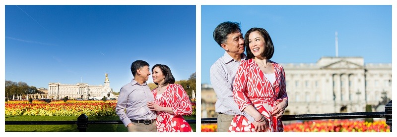 Natural Hong Kong London Engagement Shoot Buckingham Palace