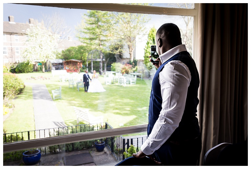 Creative London Wedding Photography Clarendon Hotel