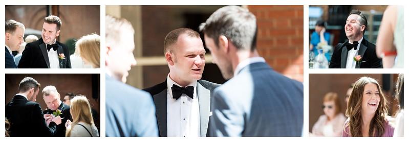 Top London Wedding Photographer Lansdowne Club Groom Prep