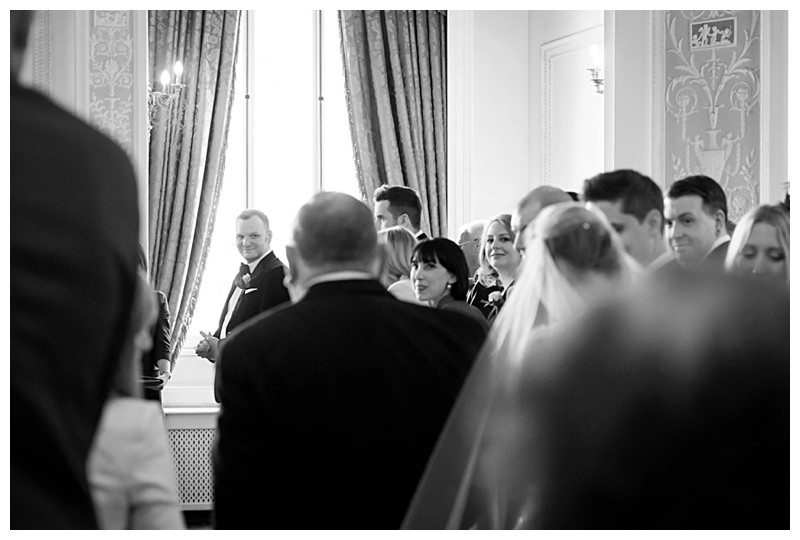 Top London Wedding Photographer Lansdowne Club Bridal Entrance