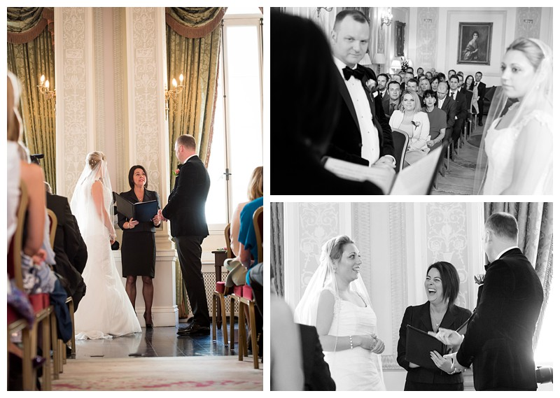 Top London Wedding Photographer Lansdowne Club Exchanging Vows