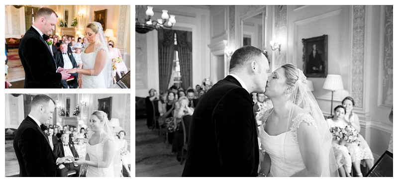 Top London Wedding Photographer Lansdowne Club First Kiss