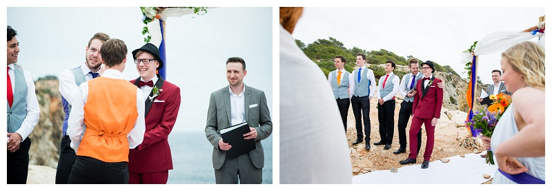 Destination Wedding Photographer Ibiza Clifftop Wedding Ceremony