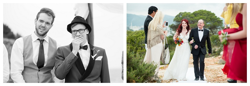 Destination Wedding Photographer Ibiza approaching bride