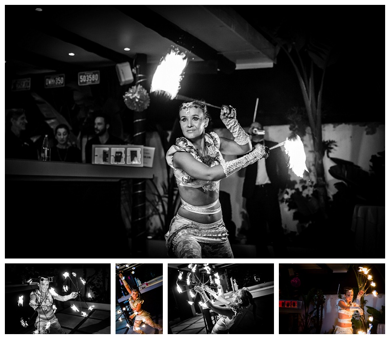 Spectacular Ibiza Wedding Photography Fire Dancer