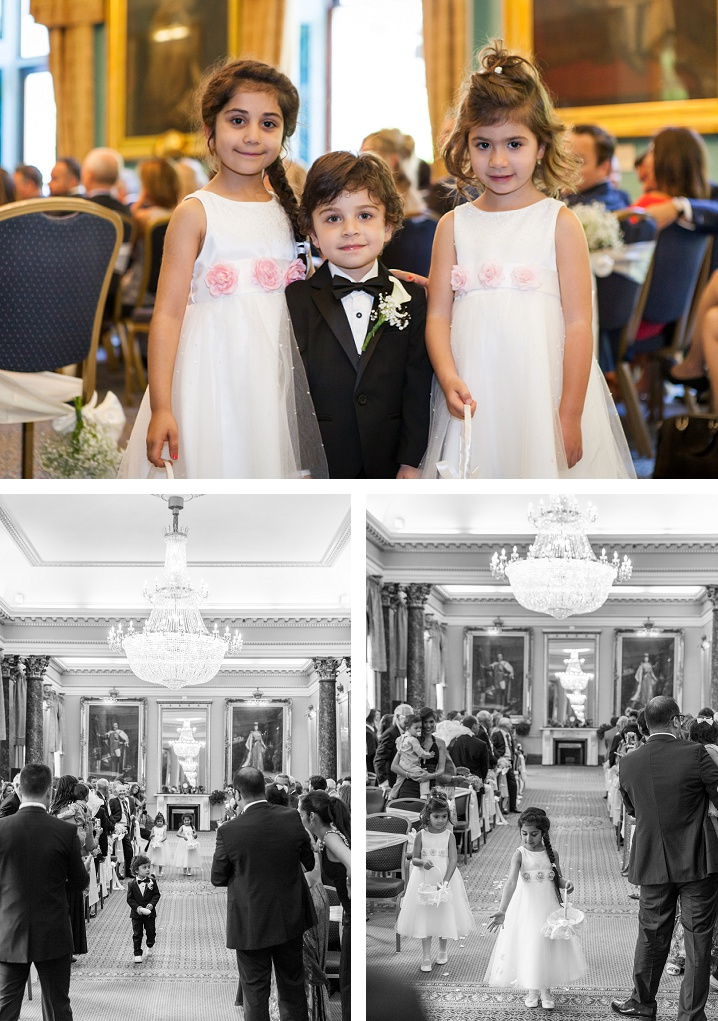 116 pallmall photography kids in the wedding ceremony