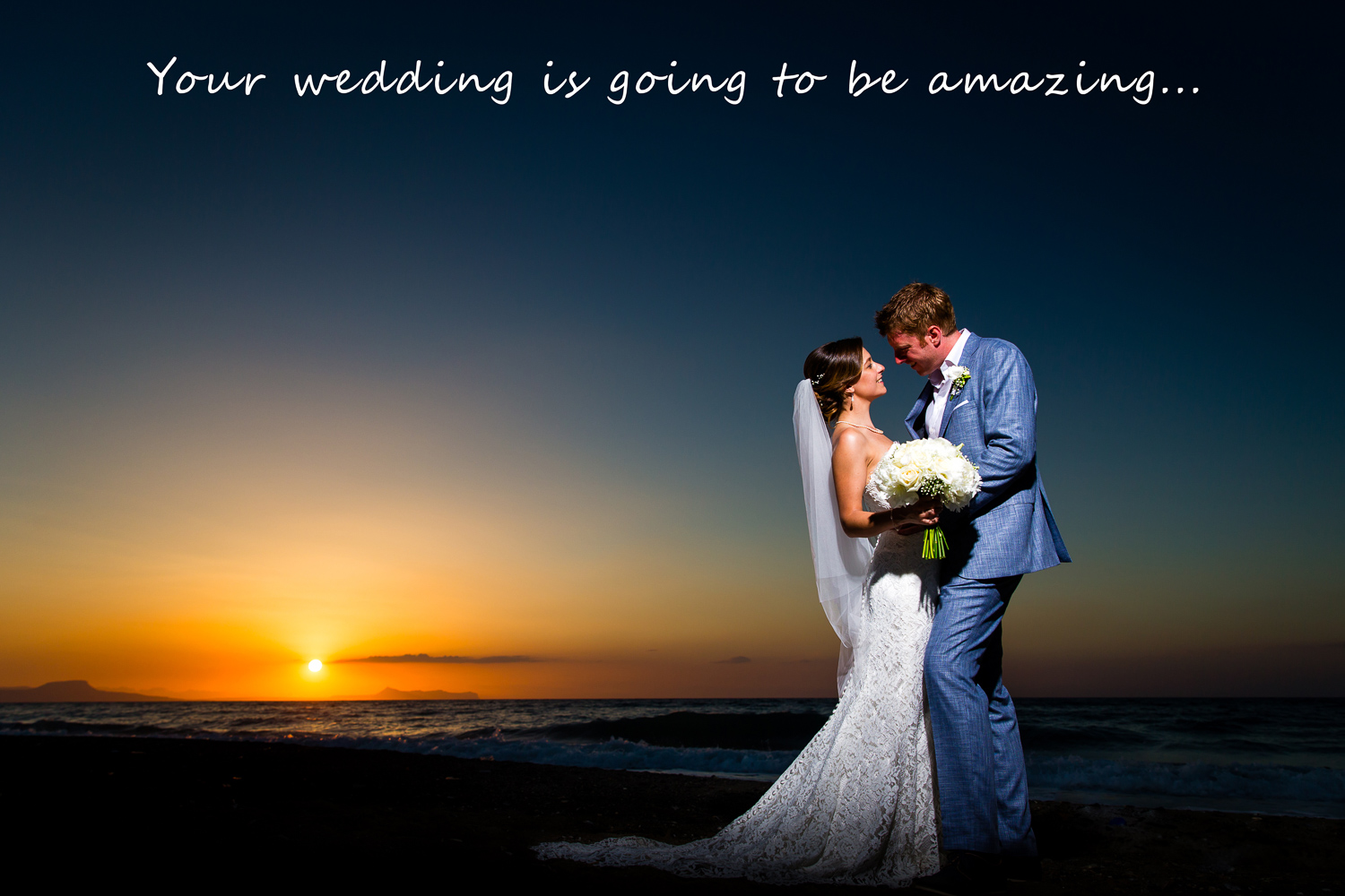 Amazing Crete Sunset London Wedding Photographer Abroad