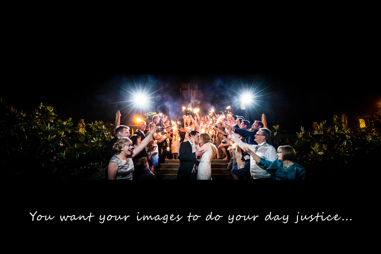 Eastwell Manor Kent Wedding Venue Photographer Sparklers Shot