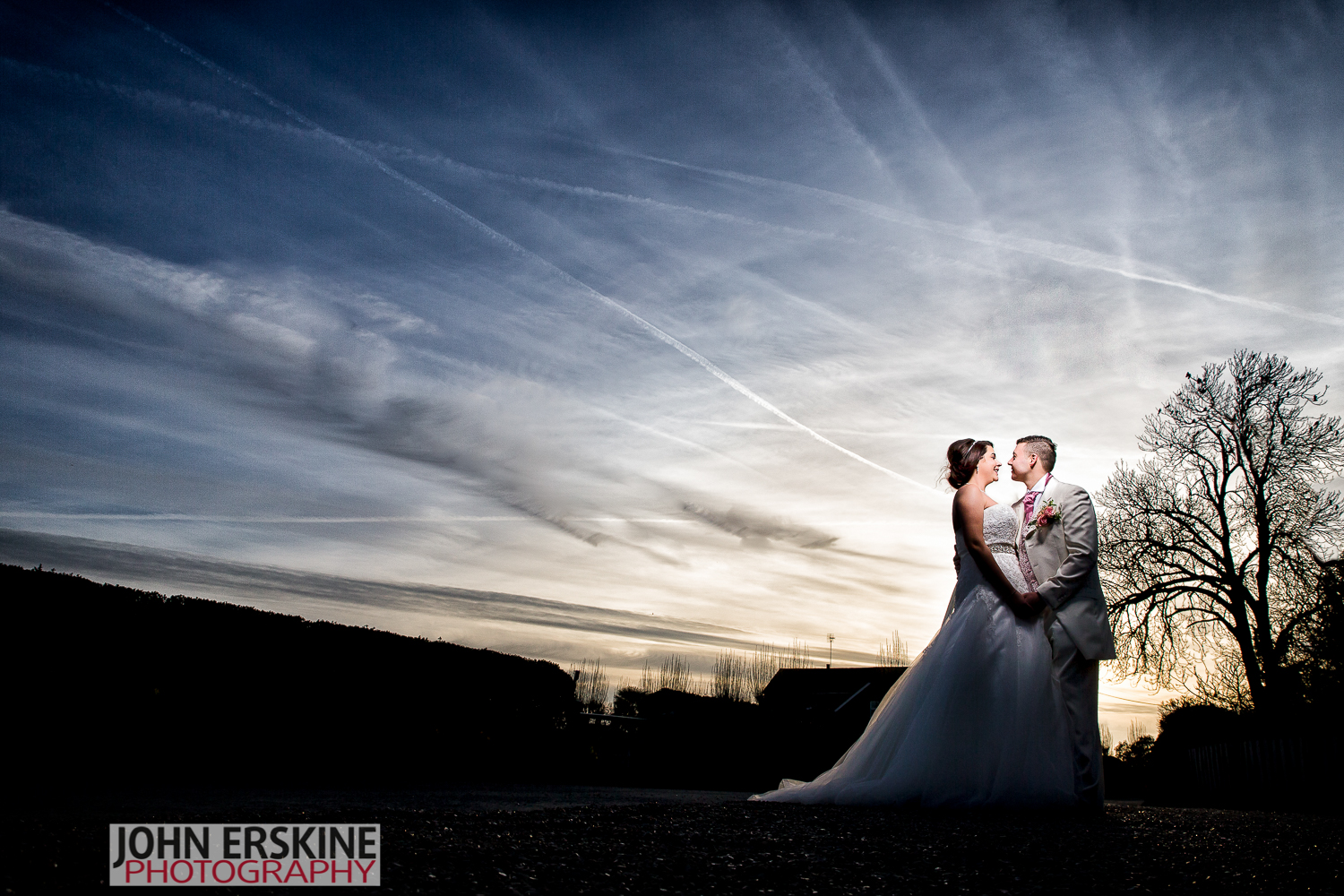 Sunset Sky Kent Wedding Photography