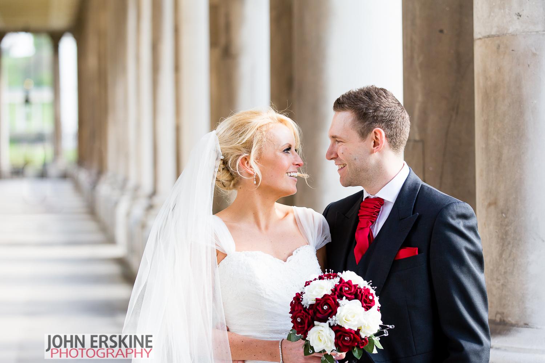 Greenwich ORNC columns couple portrait