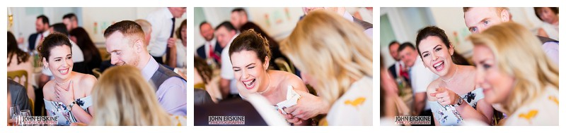 Grooms Sisters Laughter on Wedding Day