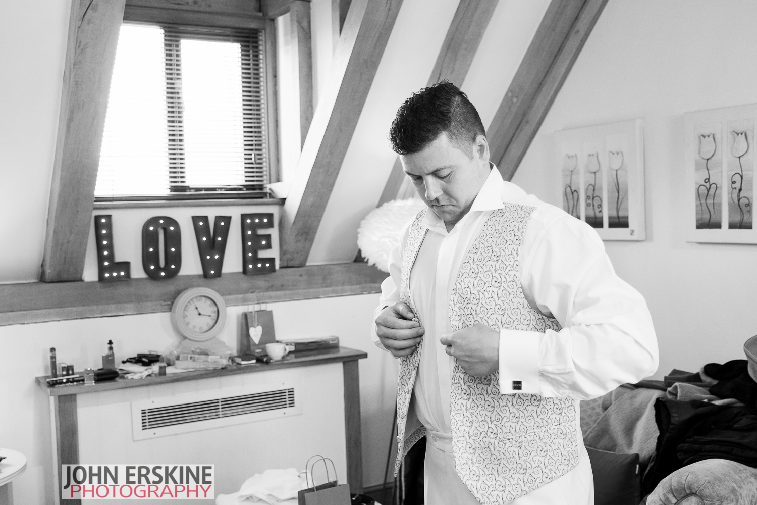 Waistcoat time for the Groom