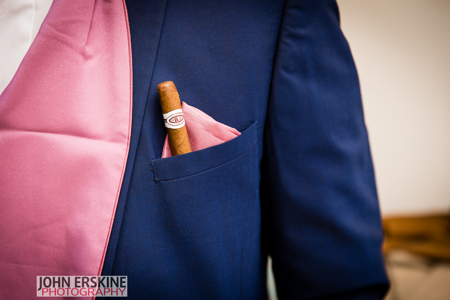 Wedding Cigar Detail Shot