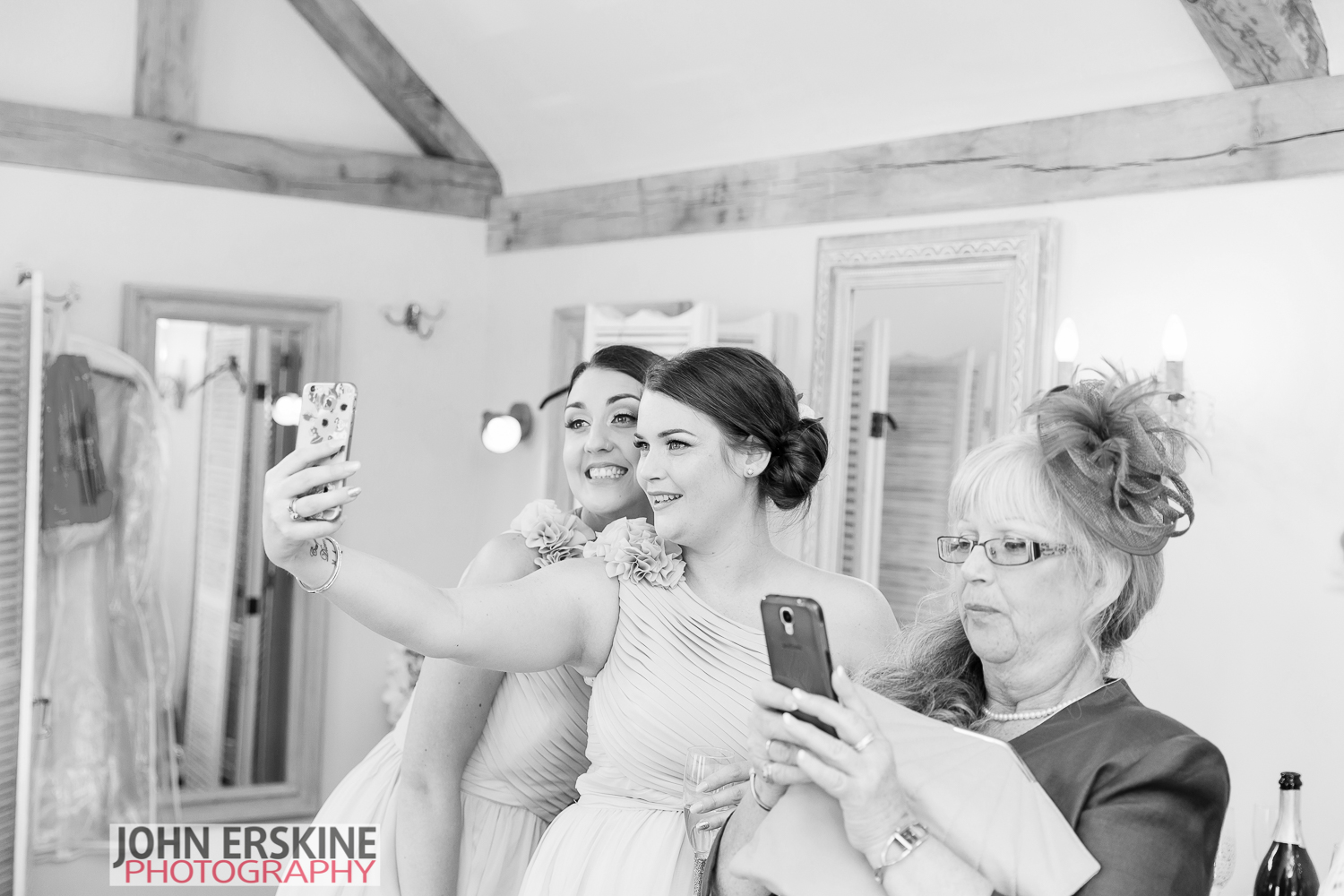 Wedding Selfie Fun for Bridesmaids