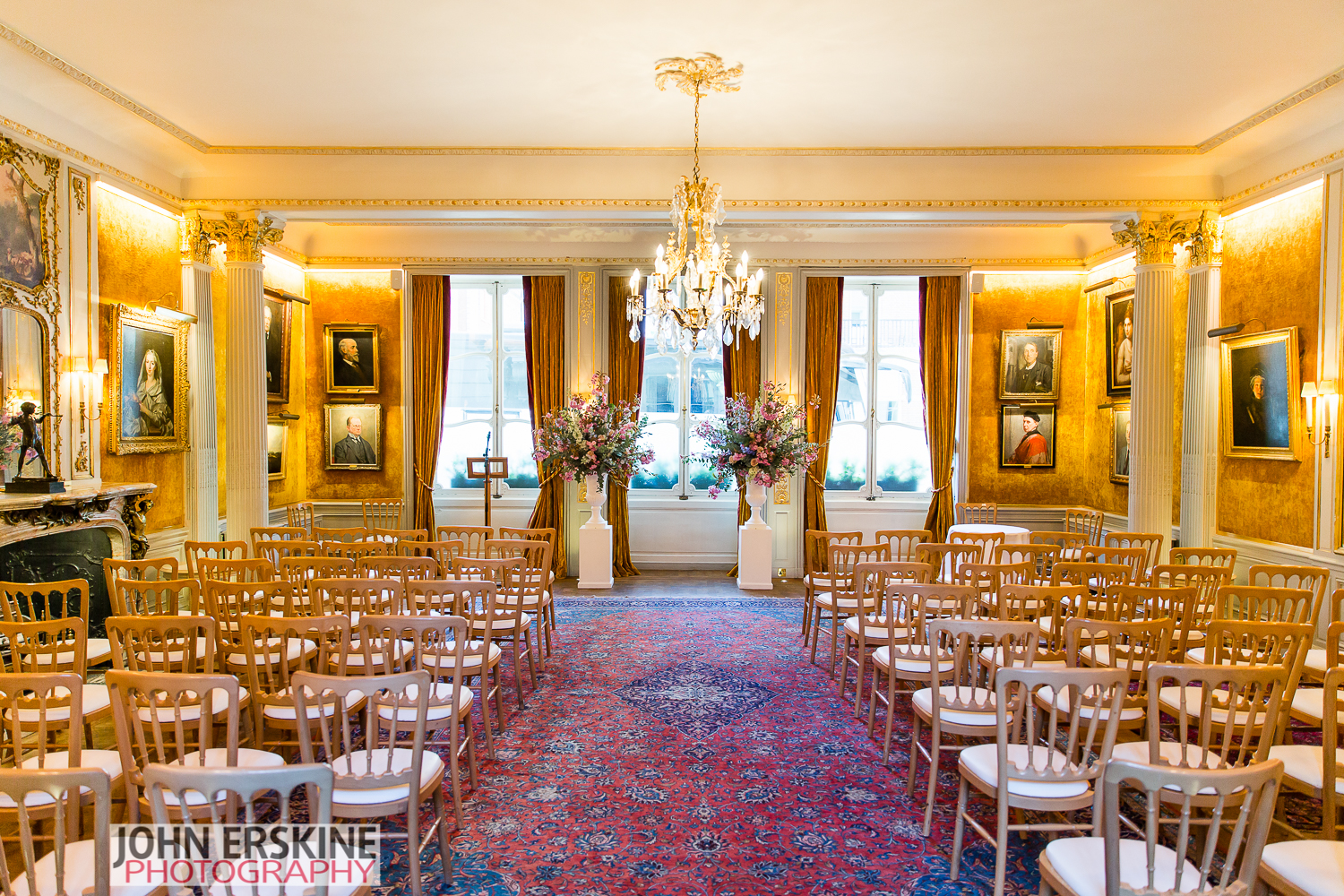 Savile Club Wedding Ceremony Room