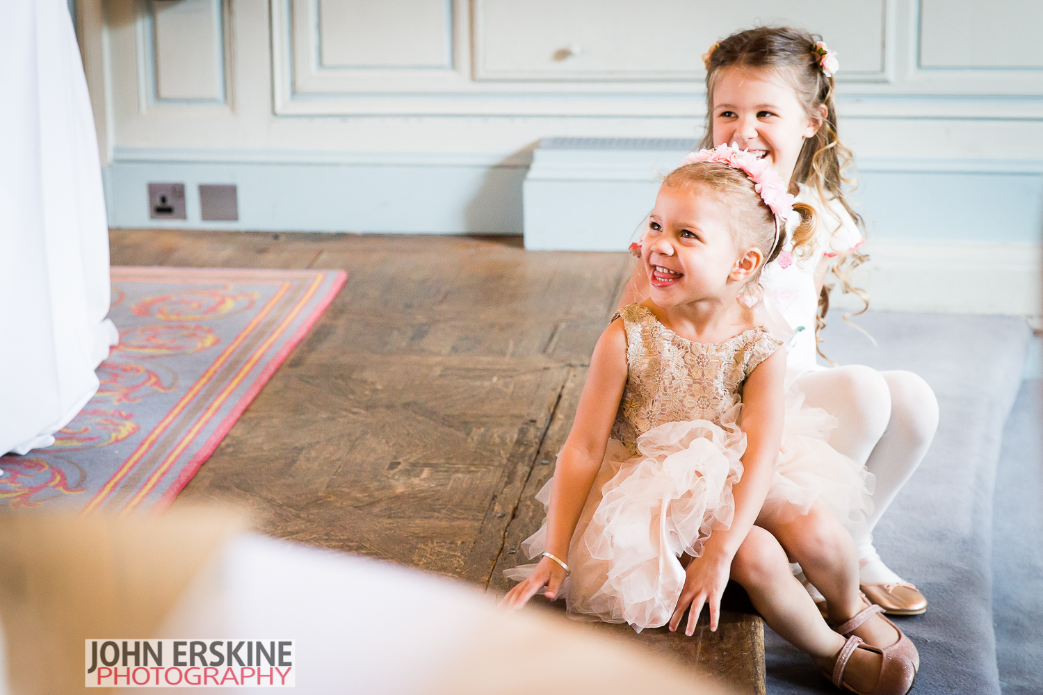 Mayfair Wedding Flowergirls Laughter Photography