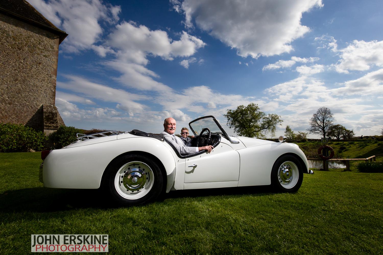 Triumph TR3 Kent Wedding Photography