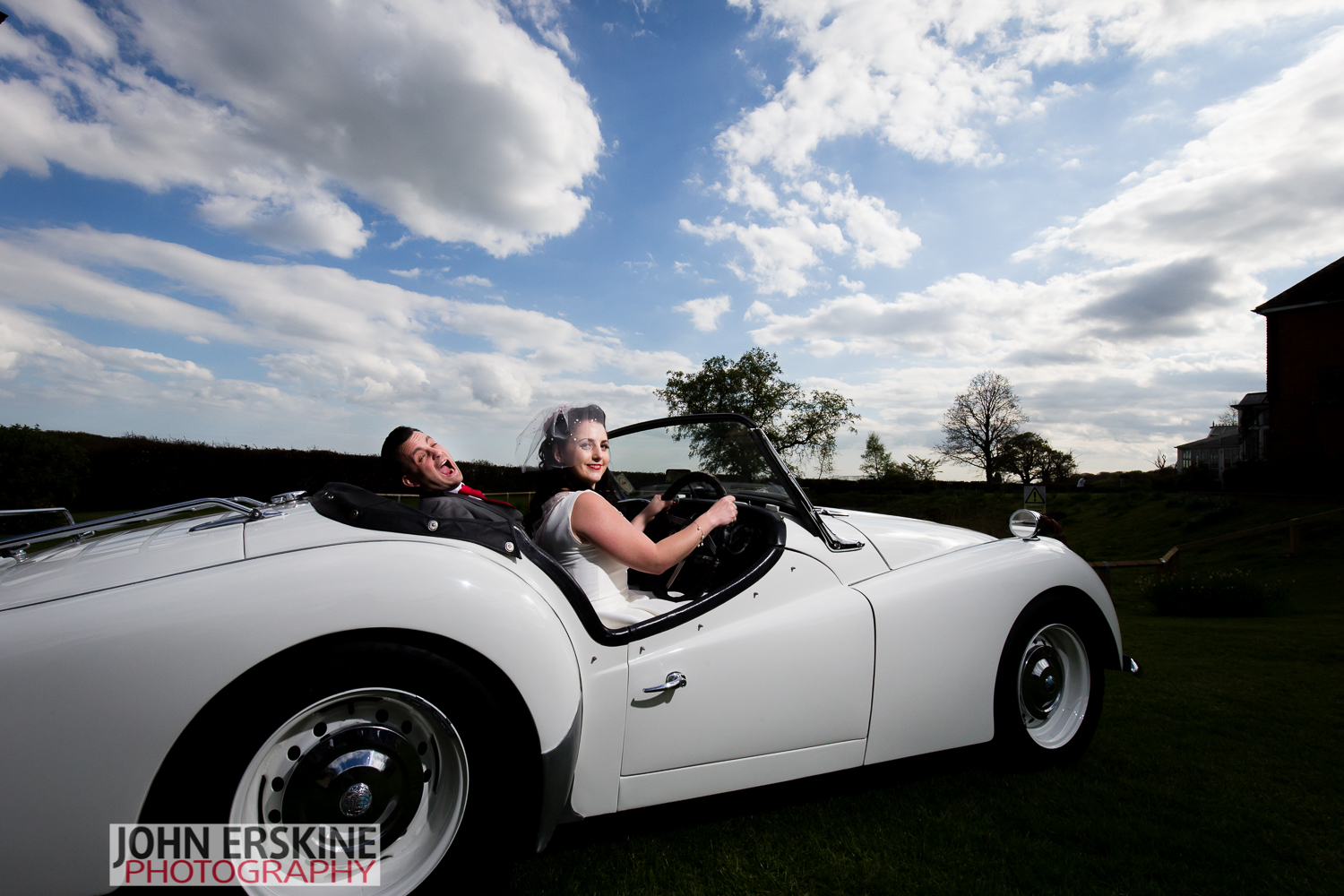 Cool Car Kent Wedding Photographer