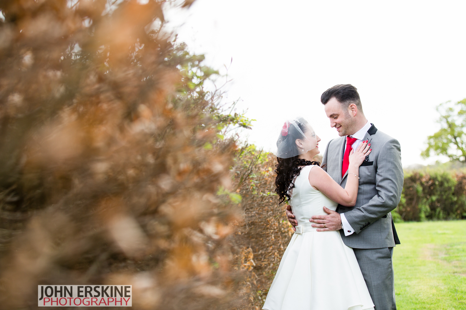 Wedding Couple Portrait Bilsington Priory Kent Wedding