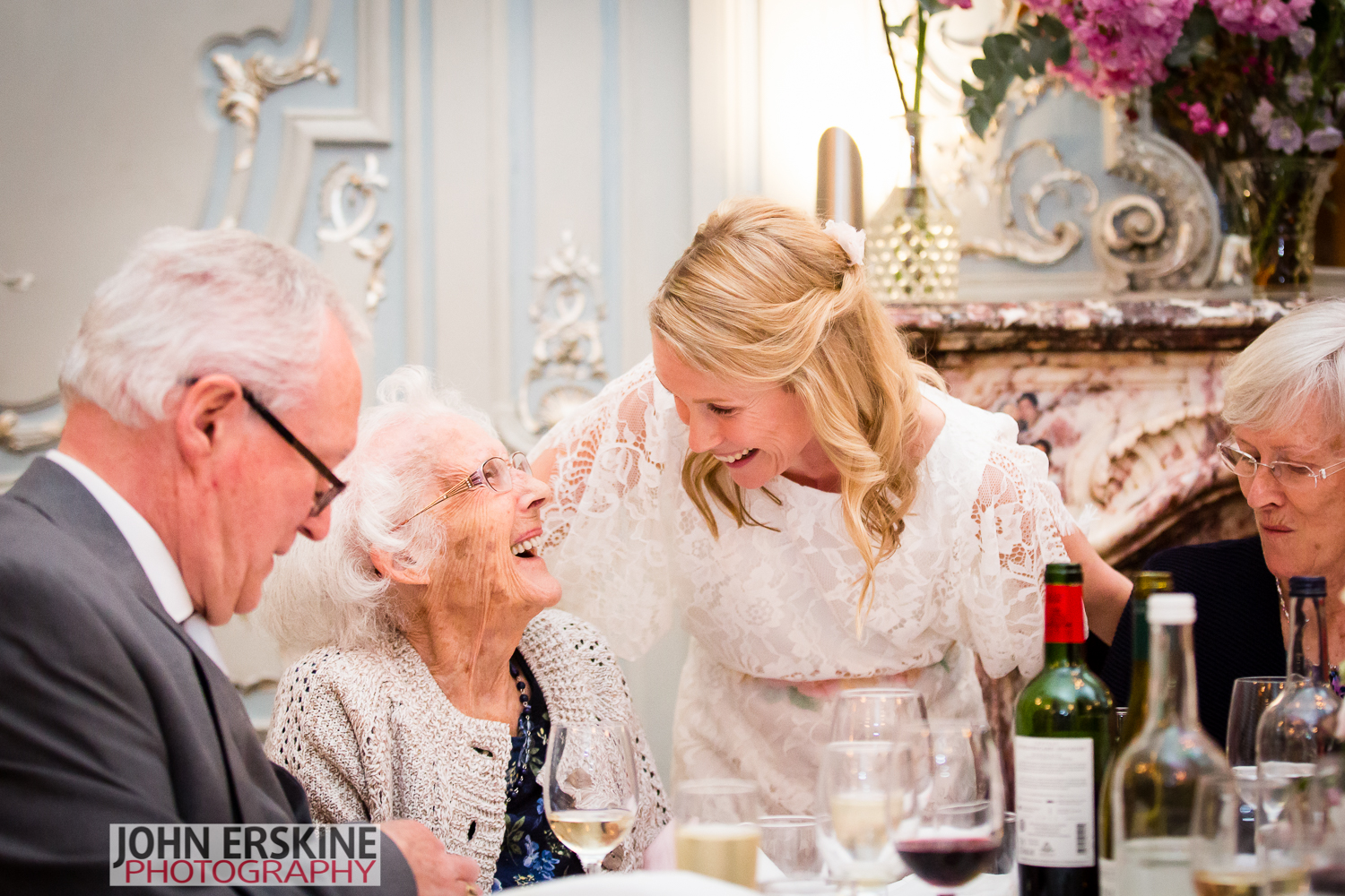 Other Grandmother Smiles at the Bride Grand Daughter