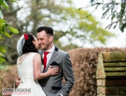 Bride Whispers Groom Portrait St Augustines Priory Wedding Photographer Bilsington