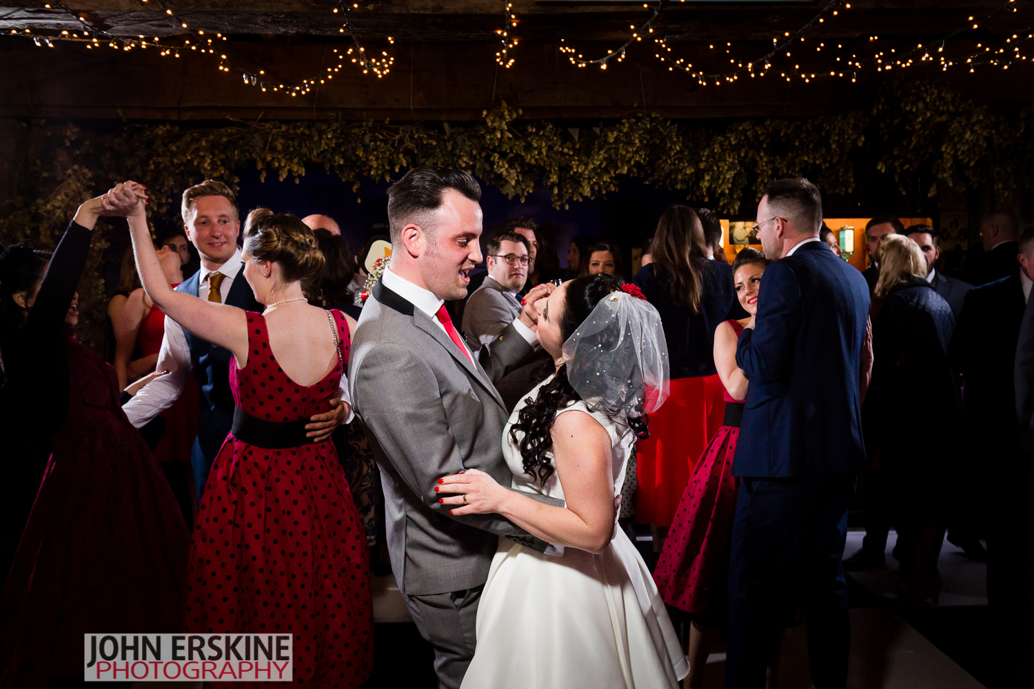 Groom sings to his new bride after first dance