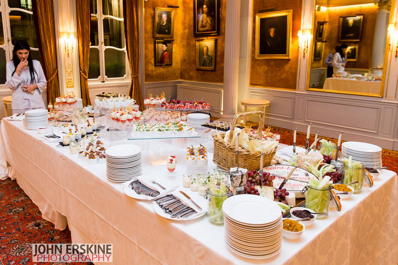 Unique Venues of London Mayfair Wedding Venue Dessert Table