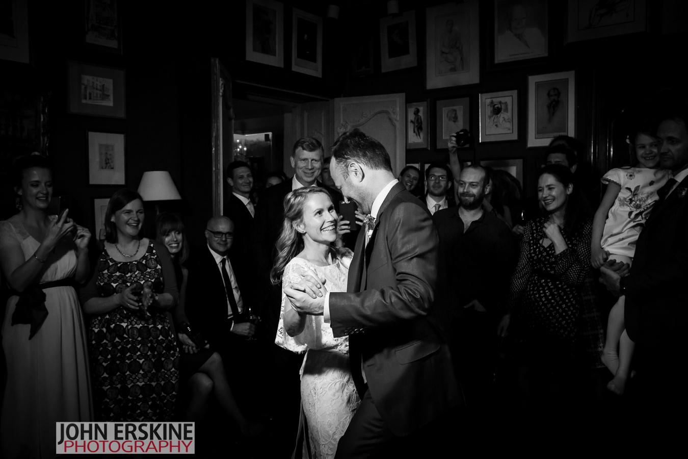 Bride Groom First Dance at Mayfair Wedding London