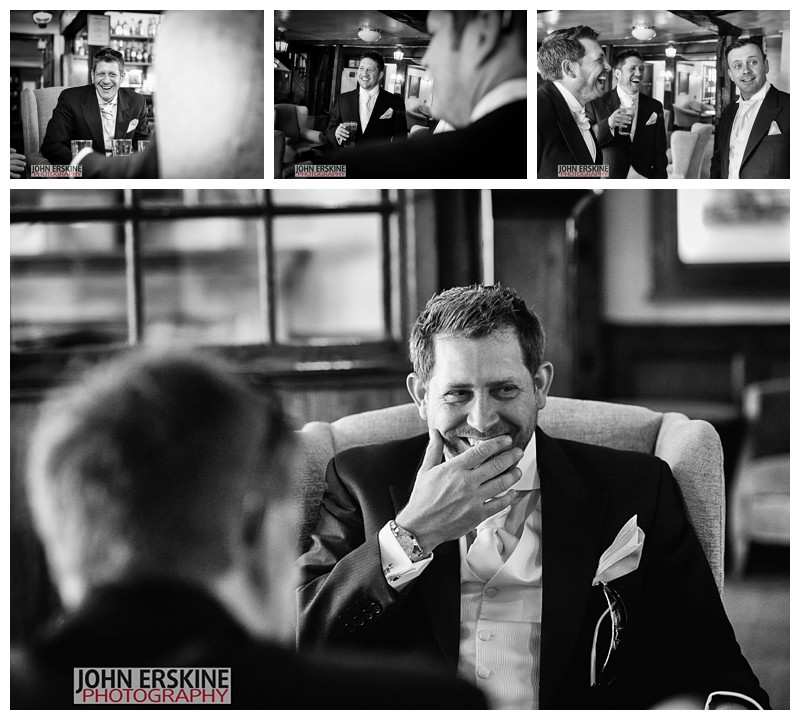 Groomsmen giggles pre wedding