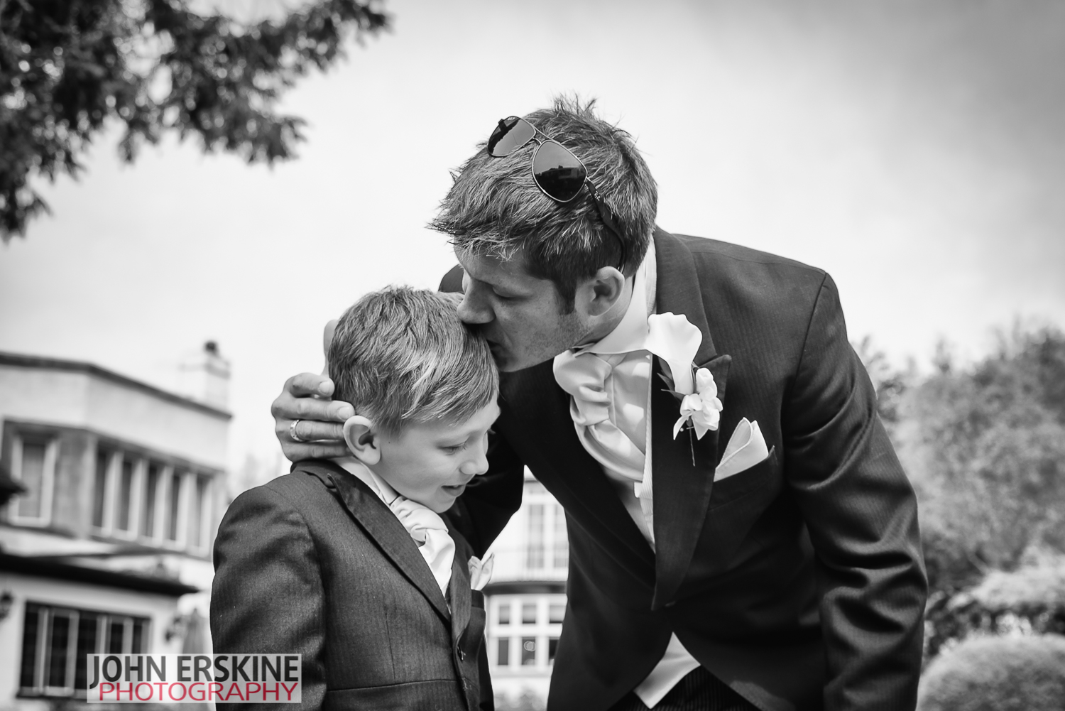 Groom Father Kiss for his Son