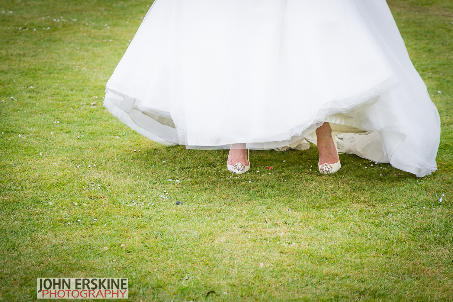 Brides Shoes on Grass glimpse