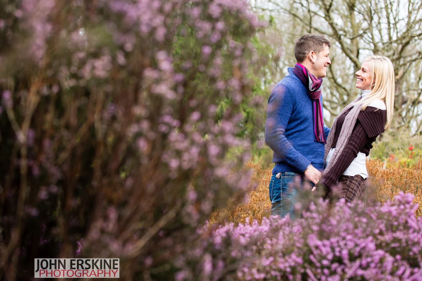 laughing couple engagement shoot photographer london