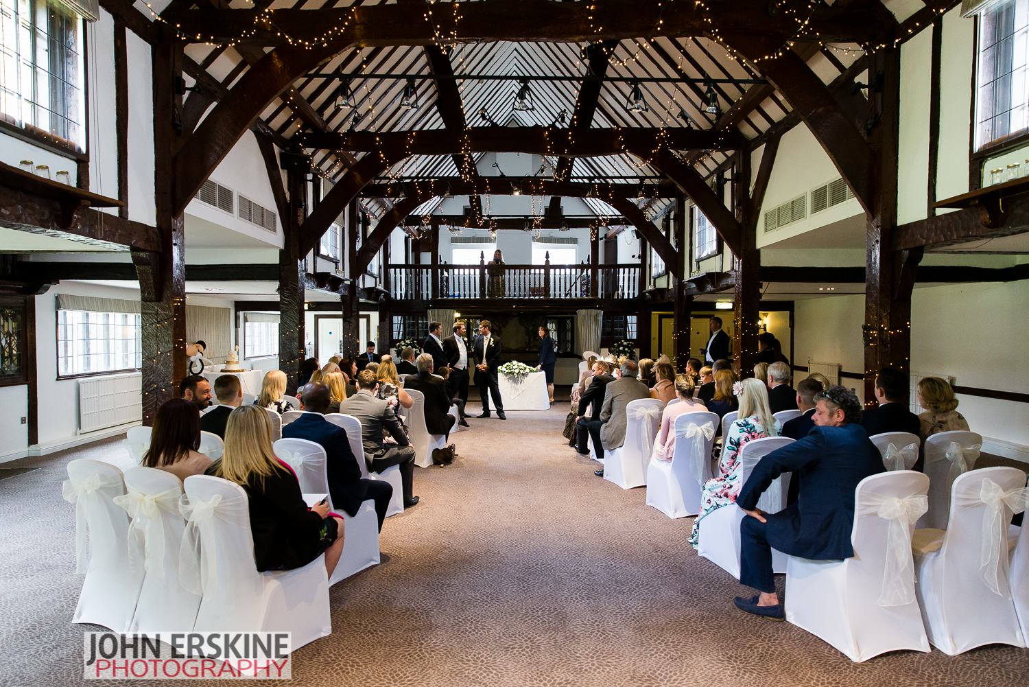 ceremony room tithe barn wedding