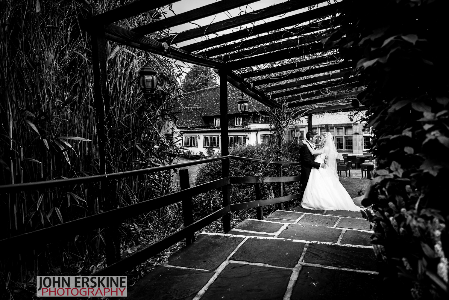 black and white bride groom