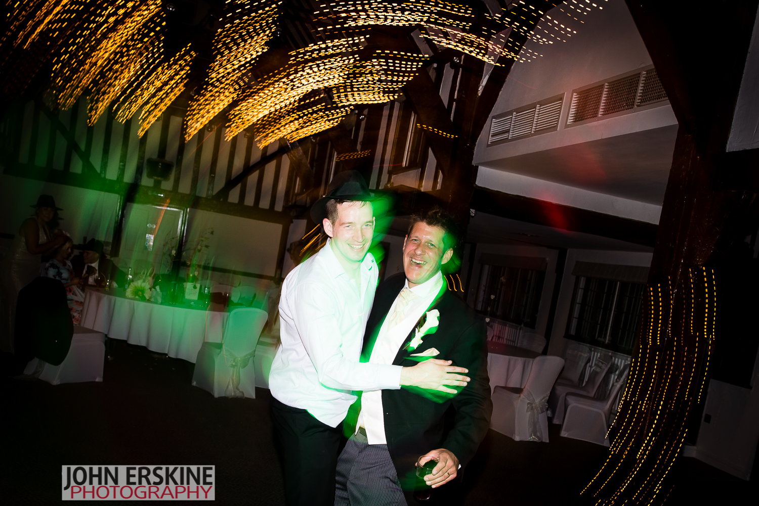 slow shutter photography party dancing groom
