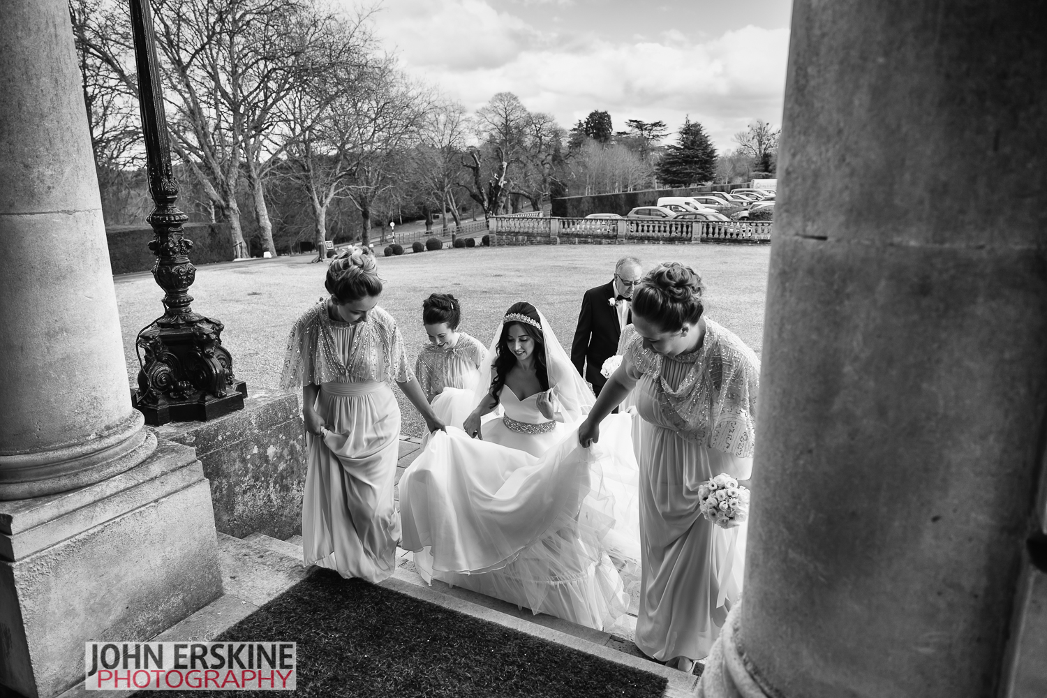 Hedsor House Wedding Photos - Bride Bridesmaids